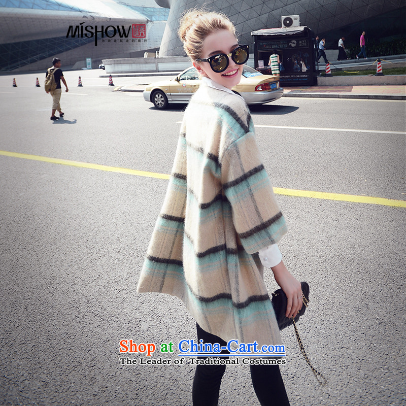 Use the爊ew 2015-Soo Choo boxed loose coat in the Korean version of the video thin stripes jacket women's gross? Will the Green