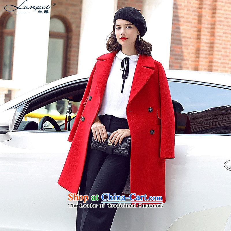 Ho Pui 2015 Autumn new stylish suits for women in the gross? jacket long double-wool a wool coat large red S