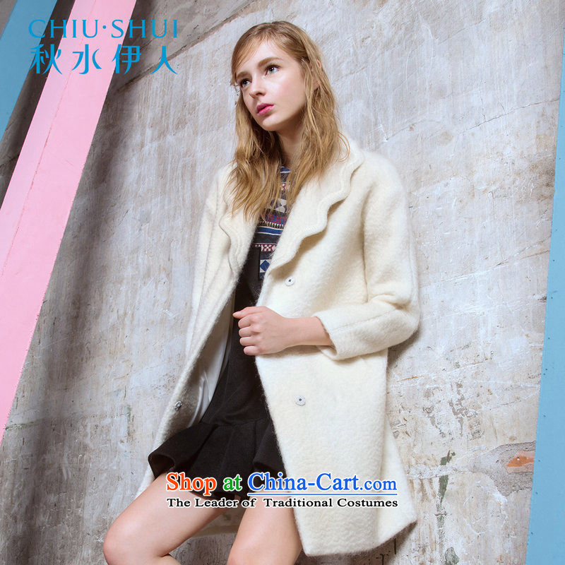 Chaplain who 2015 winter clothing new women's waves for embroidery wool warm Sau San Mao jacket coat the White?160_84A_M