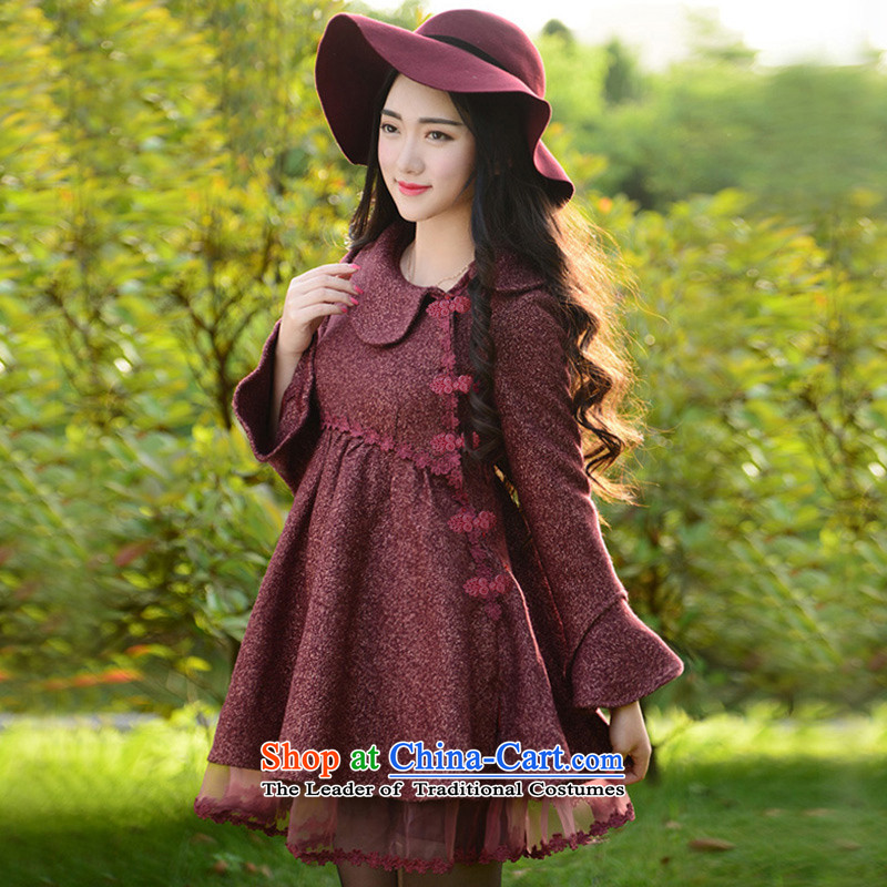 Fireworks ironing new women's autumn 2015, replacing the yarn stitching temperament gross? I should be grateful if you would have decreased by red燲XXL Jacket