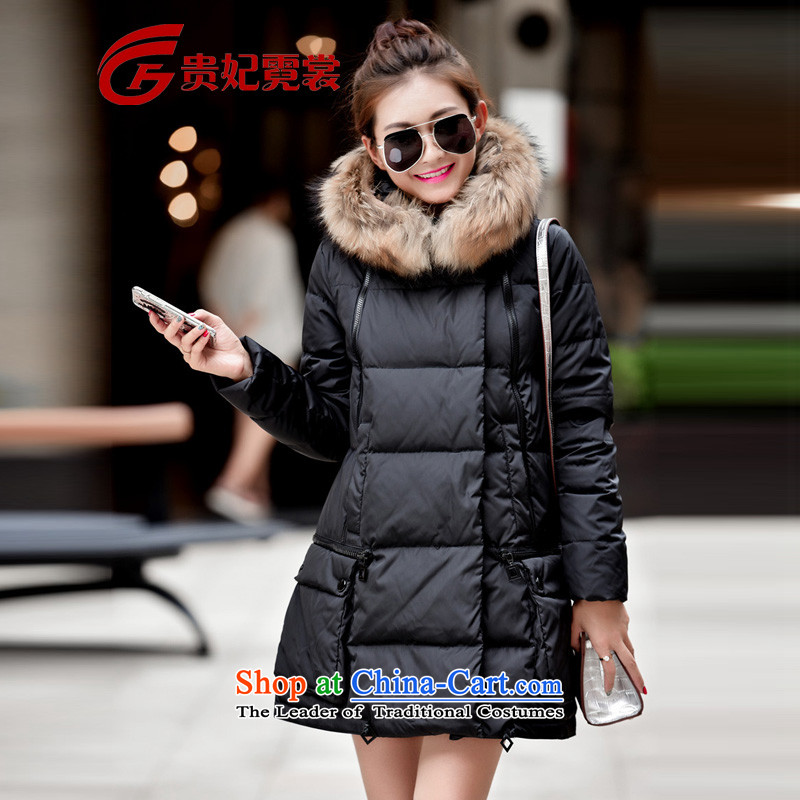 Gwi Tysan 2015 winter clothing new king zip code for women in many long coats thick mm200 catty XL black jacket downcoat High wool�L Collar