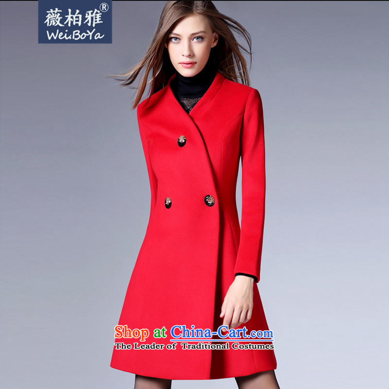 Ms Audrey EU Bai Ya�15 new fall inside Europe and the autumn and winter coats girl in gross? long hair a wool coat Sau San Video Foutune of thin爎ed 81 29燤