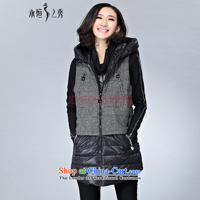 The Eternal Soo-to increase women's code cotton coat jacket, a winter 2015 new product expertise mm thick, Hin thin sister of leisure Korean jacket black�L Ms. 摸蜮