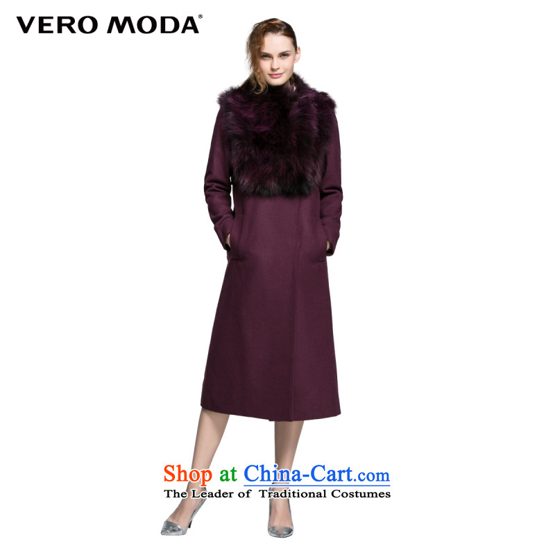 Vero moda material stitched design with a straight two kits? coats |315327044 Gross 092 155_76A_XS Deep Violet