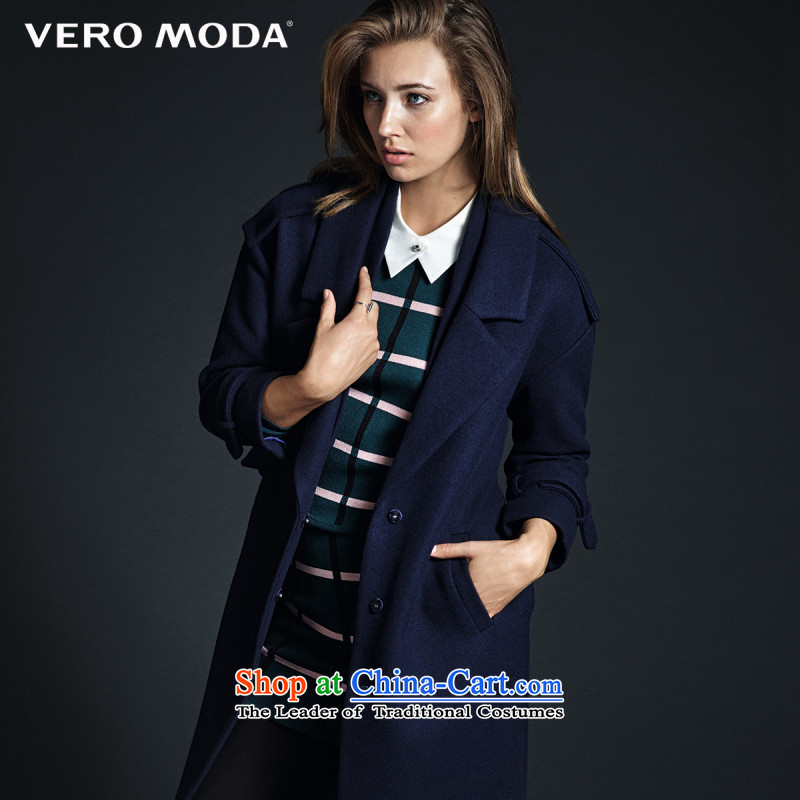 New Winter moda2015 vero double roll collar type cocoon coats |315427006 gross? 030 Blue 165_84A_M