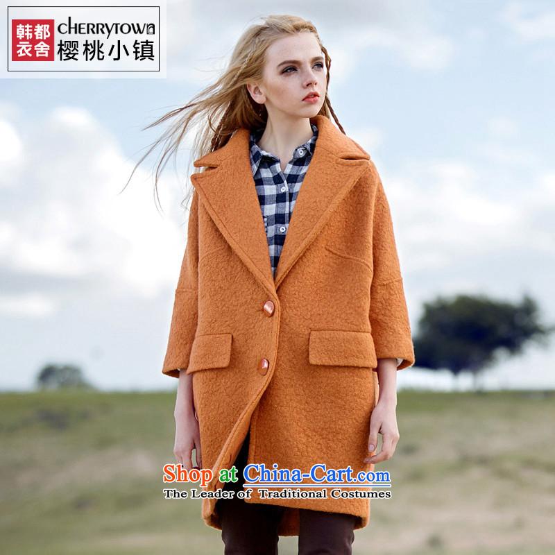 Korea has Yi Dag Hammarskjöld cherry town lapel relaxd 2015 winter coats girl in gross? long coats of female CT0763? Also orangeM