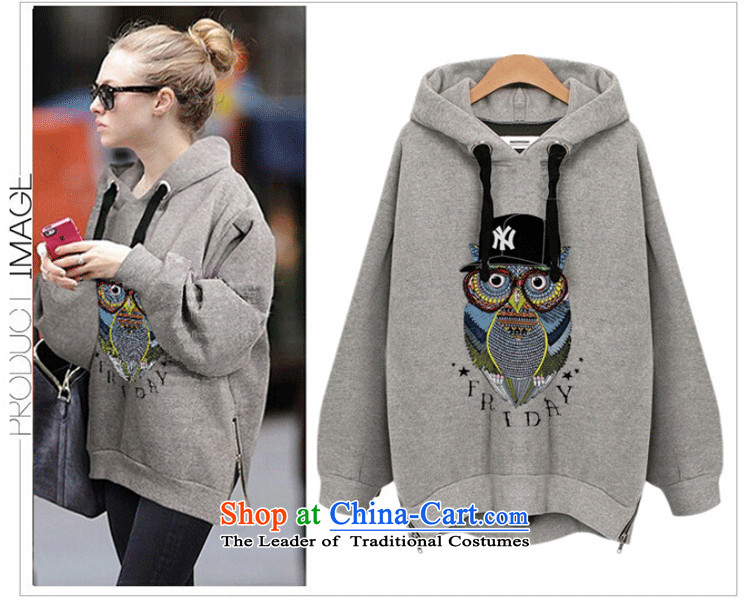Xiang Jiang2015 new autumn replacing xl women wear shirts thick mm long-sleeved T-shirt shirt 200 catties thick sister sweater girl jacket7715Light Gray large XL Photo, prices, brand platters! The elections are supplied in the national character of distribution, so action, buy now enjoy more preferential! As soon as possible.