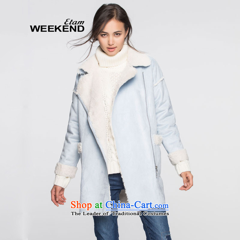 The WEEKEND of new products by 2015 W pure colors plus long coats in lint-free lift 799 premium 1502340864736S light blue