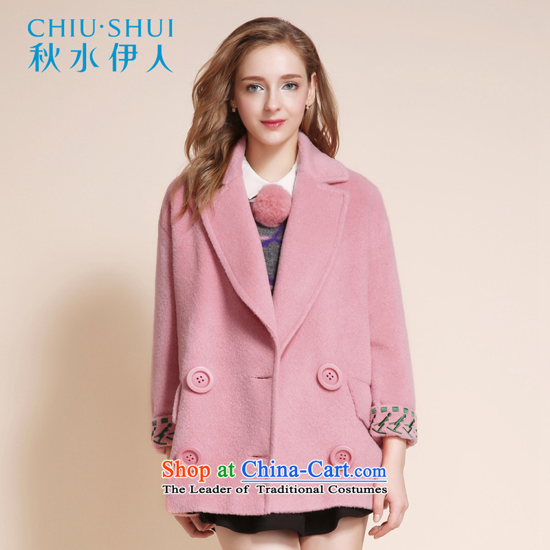 Chaplain who 2015 winter clothing new women's stylish reverse collar double-loose coat peach155_80A_S gross?
