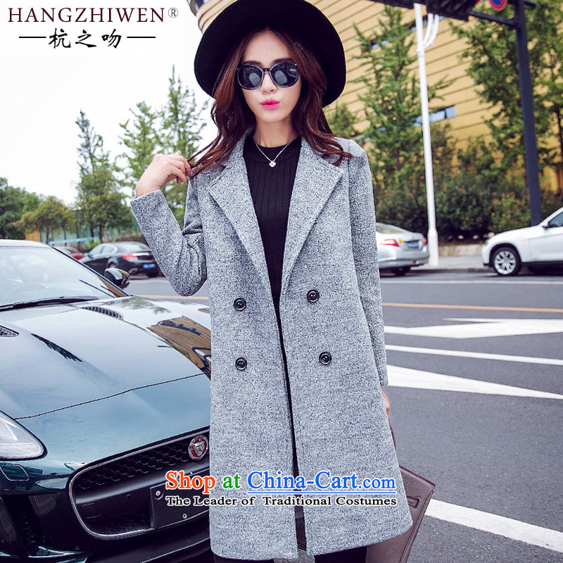 Alejandro Toledo kisses winter clothing new products? jacket women 2015 gross autumn and winter new Korean version in the Sau San long)?? coats girl child gross flows J960 light gray M