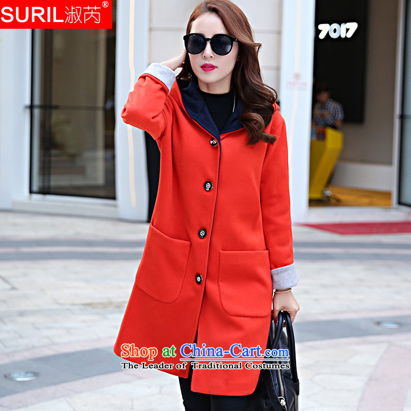 Mrs and gross non-cashmere overcoat girls? 2015 Autumn, coats coats female Gross Gross?? jacket female red燲L