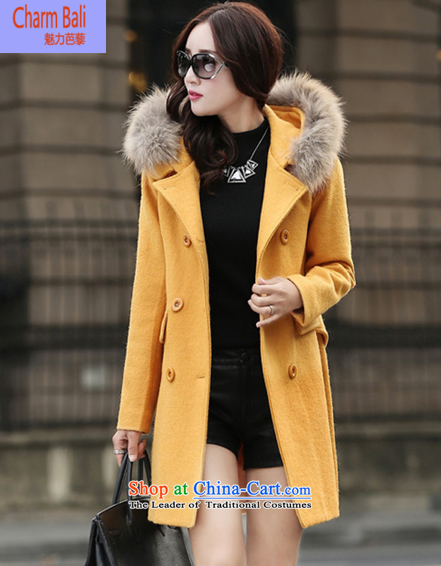 2015 winter clothing Korean Sau San is a wild in long wool coat jacket available offline so gross for YellowXL shoes