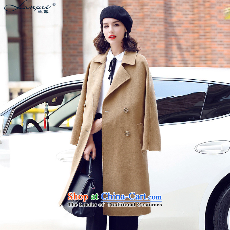 Ho Pui 2015 autumn and winter new two-sided woolen coat in the Long Hair Girl? female Korean jacket and color聽L