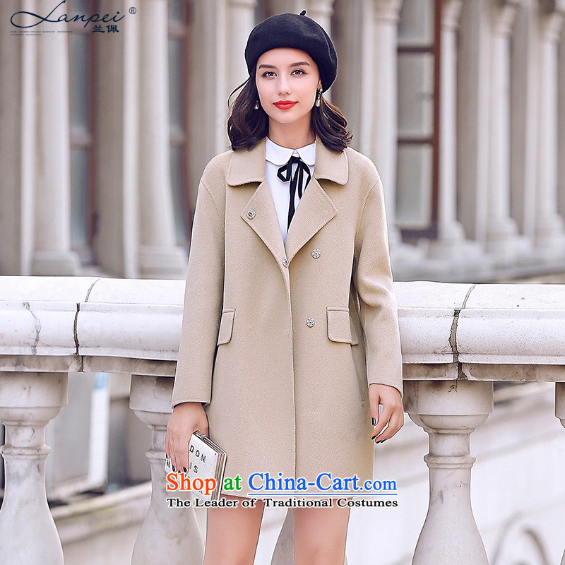Ho Pui 2015 autumn and winter coats new double-side female Sau San? butted long hair, wool a wool coat m White pre-sale 7 days M