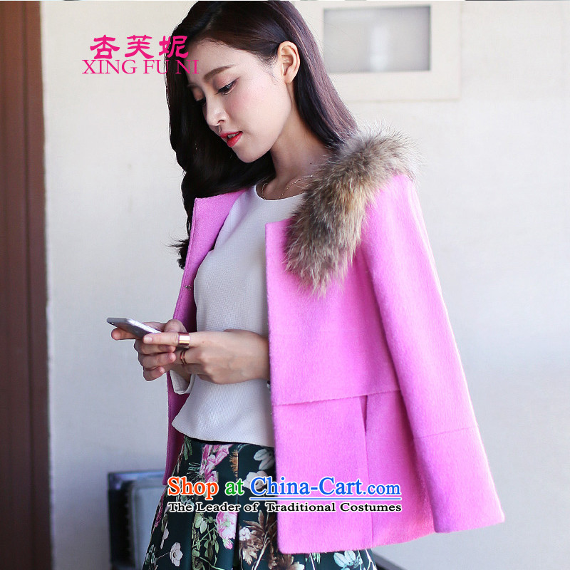 All Daphne 2015 autumn and winter Korean small fresh coat female gross? Heung-large coats gross? female cloak? shawl pink gross燣
