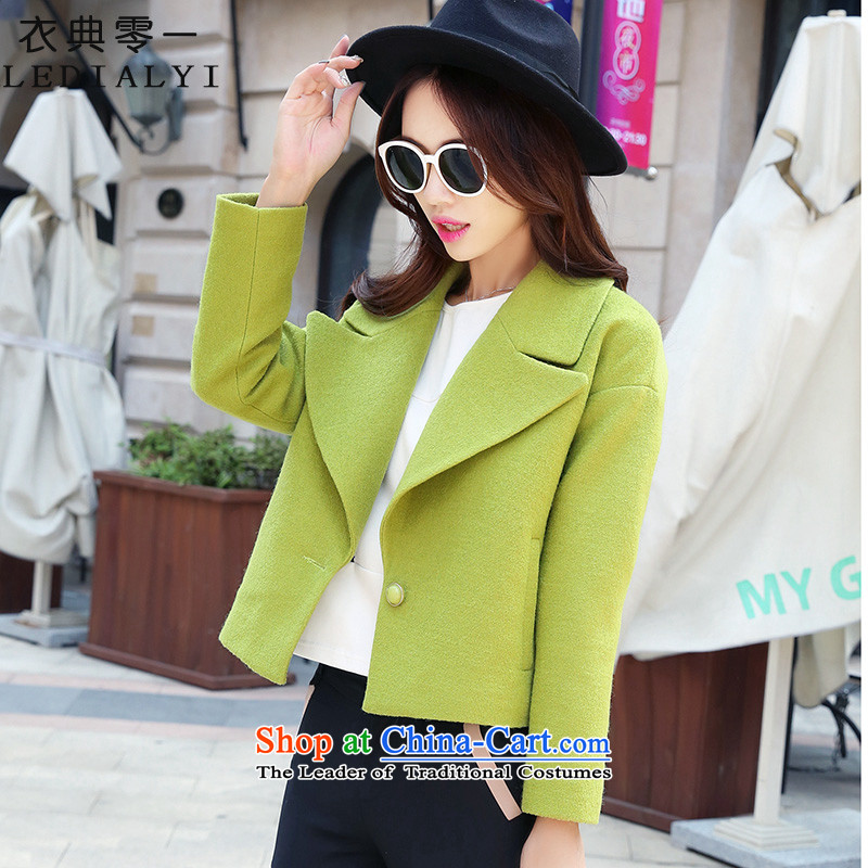 Yi code 12.01 2015 autumn and winter New Women Korean wool double-side gross Sau San? female short of coat han bum small incense wind wool a wool coat green. M