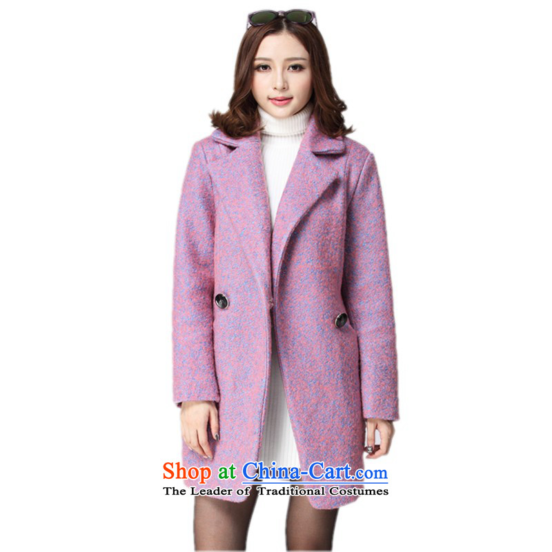 C.o.d. thick girls' woolen coats 2015 NEW? winter thick jacket in long cardigan to xl windbreaker jacket coat with a light purple5XLapproximately 155-170 catty