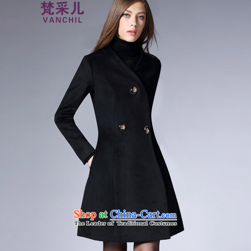Van Gogh Cherrie Ying 2015 new fall inside Europe and the autumn and winter coats girl in gross? long hair a wool coat Sau San Video Foutune of thin black 81 29燣