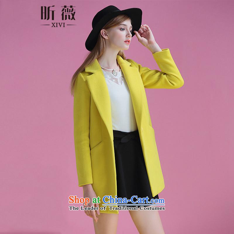 Ms Audrey Eu xivi xin gross? Women 2015 winter coats the new Korean fashion, long, thick a jacket Sau San Y754113 yellow燬