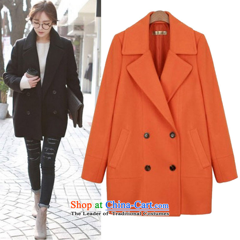 Thick sister extra women fall new 2 catty to xl cardigan thick mm thin hair? jacket graphics orange 5XL.