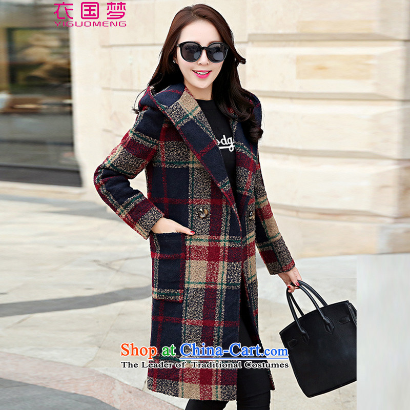 Yi Guo Meng? 2015 winter coats female new women in Korean long hair Sau San? First of 8518 Women Jacket - COTTON M
