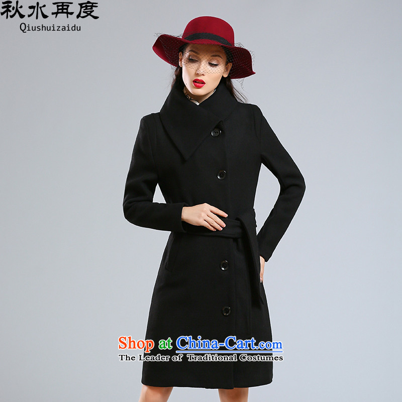 Once again we get Western Europe female coats gross long winter 2015 graphics are decorated in female temperament thin Long Hair Girl Black聽XL jacket?