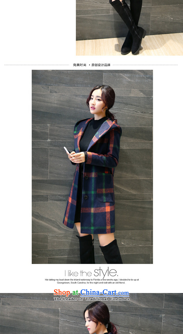 Letter alite聽2015 winter clothing new products Sau San with cap grid gross butted? long thick hair? coats of female Huang Hongying聽M picture, prices, brand platters! The elections are supplied in the national character of distribution, so action, buy now enjoy more preferential! As soon as possible.
