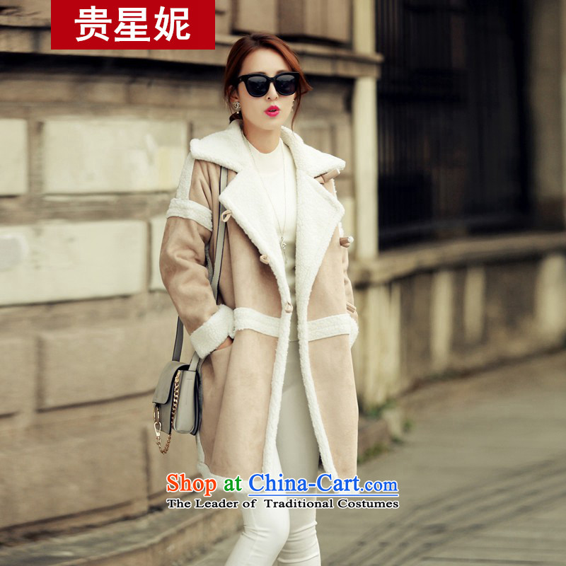 The Star Ni gross female autumn and winter coats? 2015 new products installed version won autumn thin new for women in long straight leg a wool coat picture color M