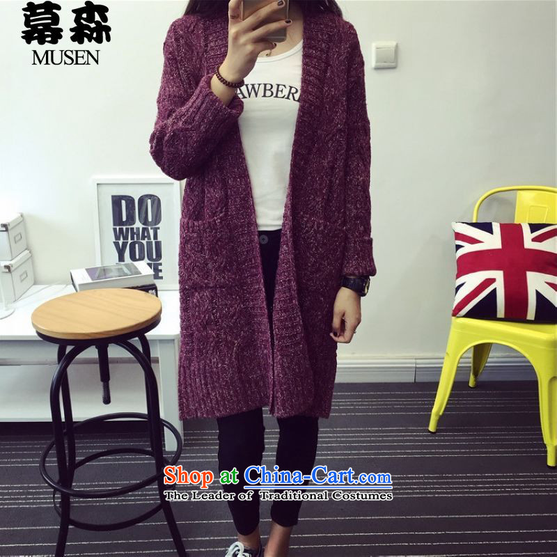 The 2015 Fall_Winter Collections sum to xl sweater jacket in long twist cardigan loose thick woolen sweater 200 catties can be wearing a purple are code