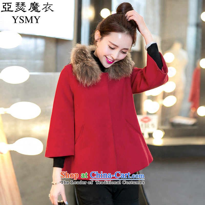 Arthur magic yi�15 autumn and winter for women Korean small incense wind-thick cloak gross jacket BOURDEAUX燣?