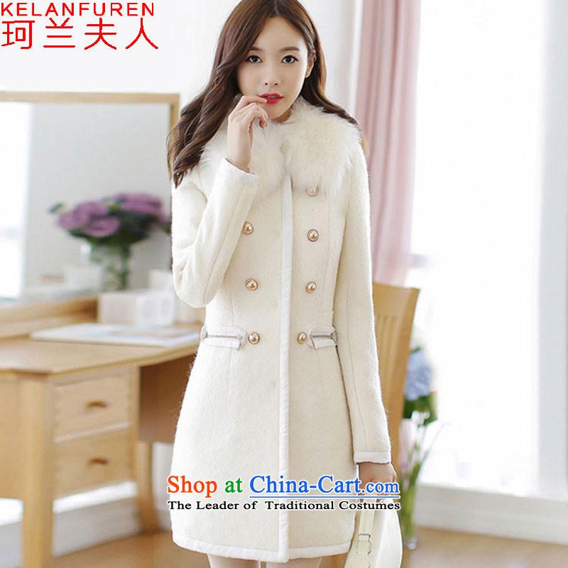 Mrs. Memnarch 2015 winter coats new gross Women's jacket? Code women thick MM THIN in the long graphics Sau San gross for a windbreaker m WhiteL