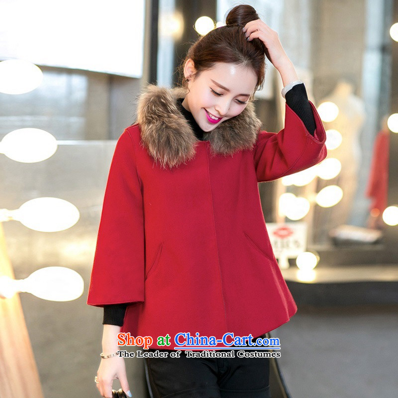 Arthur magic yi 2015 autumn and winter for women Korean small incense wind-thick cloak gross jacket BOURDEAUX S?