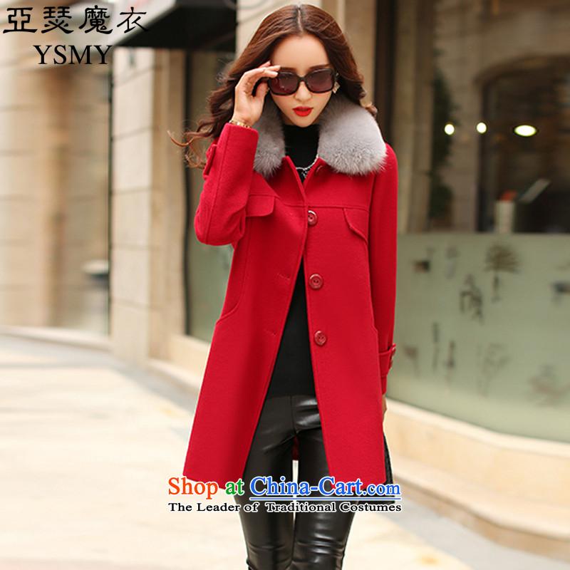 Arthur magic yi2015 Fall/Winter Collections New Sau San Mao coats women won? version for warm Gross Gross a jacket female autumn redXL