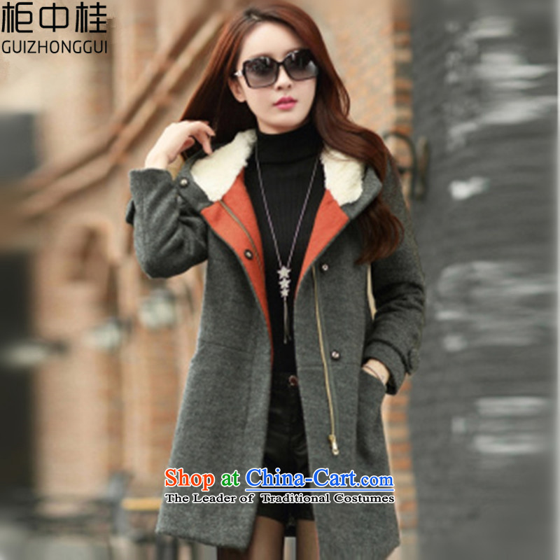 Cabinet-Gye-coats autumn 2015_? the new Korean women in the thick of gross?? jacket coat female autumn and winter D2 carbon L
