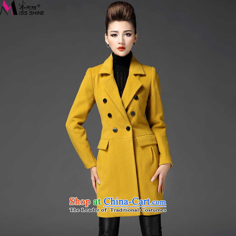 Meath Yang original Fong Shan gross? 2015 autumn and winter coats of new products in the double-long-sleeved long coats gross? female orange M
