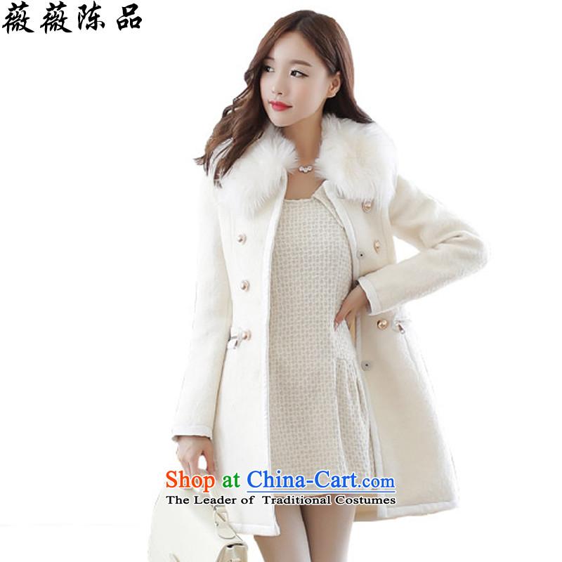 Weiwei Chen No. 2015 autumn and winter female new Korean Sau San? overcoat 9046 gross White燤