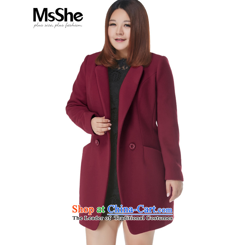 To increase the number msshe women 2015 new autumn and winter Fat MM collar wool coat jacket? Gross pre-sale altogether, 10,757 people took part wine red 2XL- pre-sale to arrive at 12.10