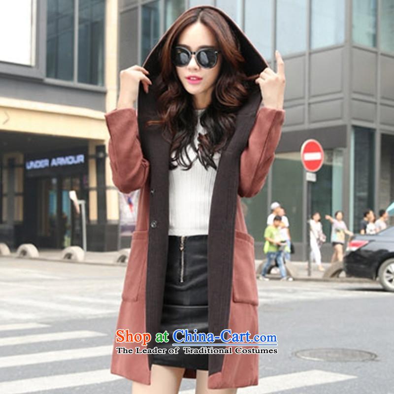 The Korean version of the stylish Coat cap? coffee燲XL