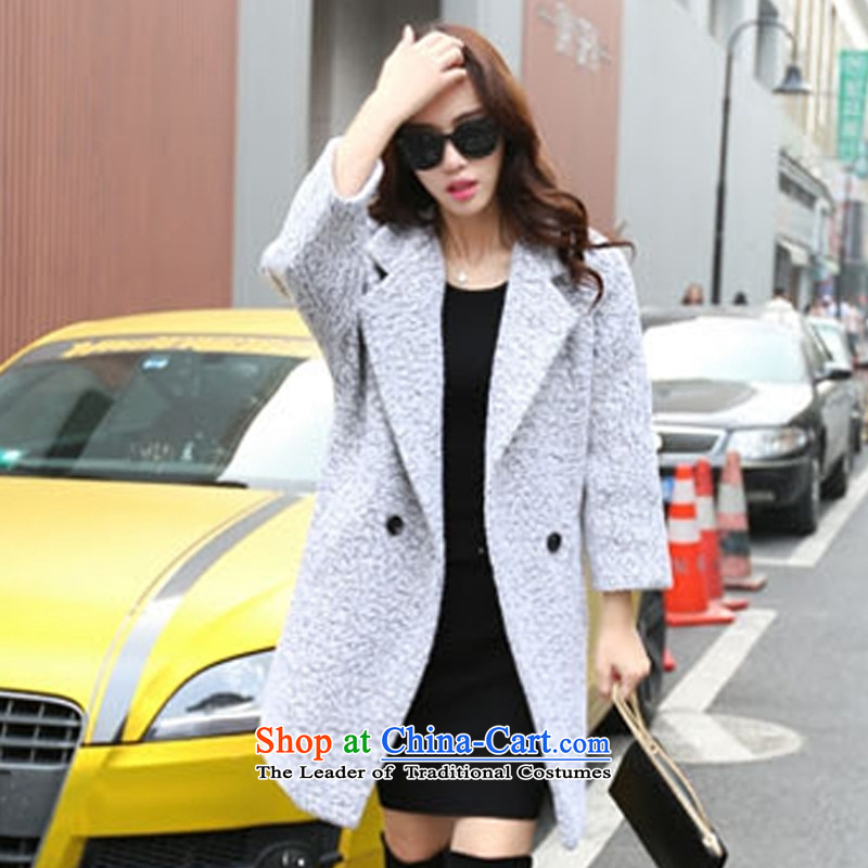 The Korean version of the stylish medium to long term_? sub jacket m Gray燲XL