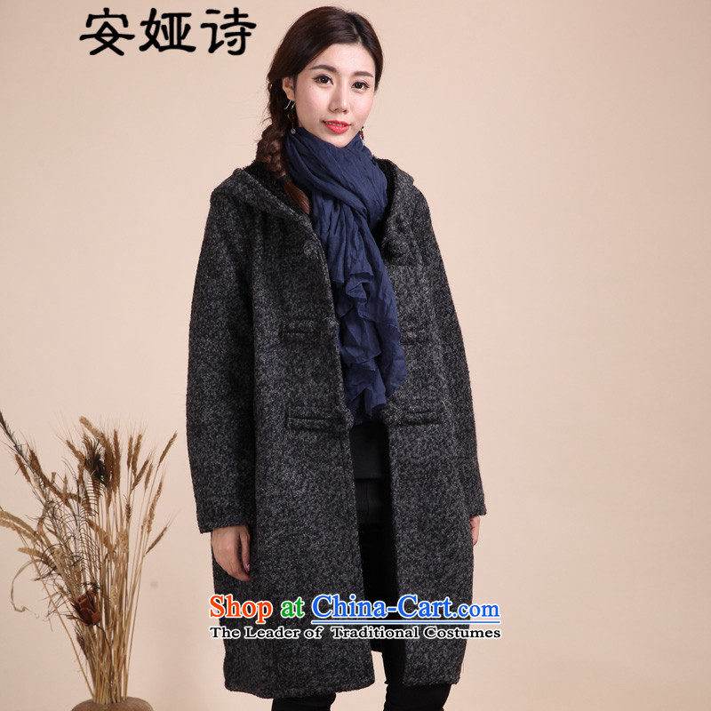 The Poetry, Tarja Halonen 15 winter wind up national fastener retro loose large cap reinforcement in the lint-free long hair? are dark gray jacket coat female code