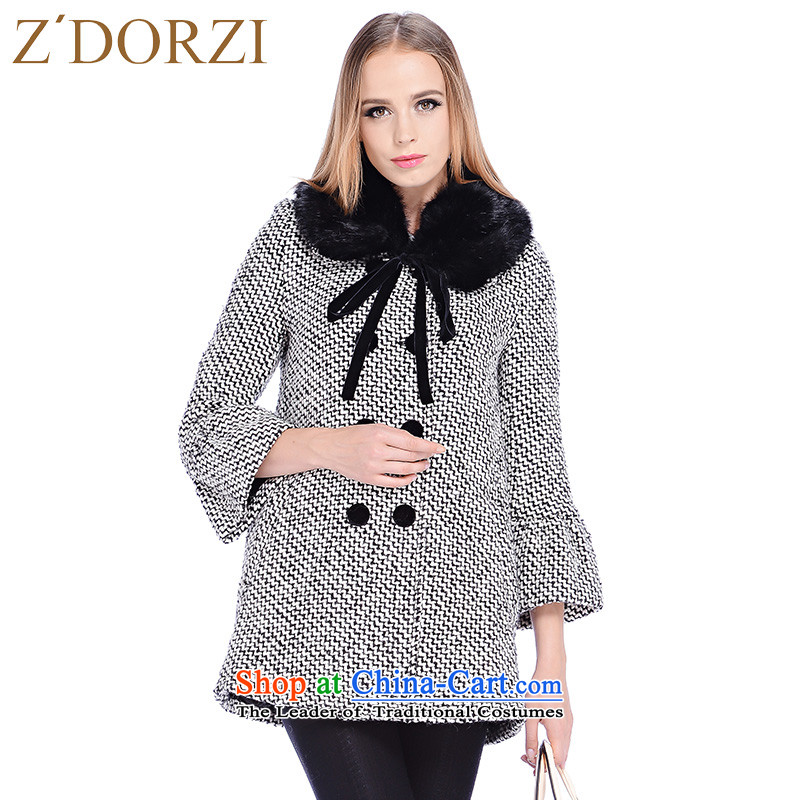 Zdorzi colorful Cheuk-yan winter new women's sweet date of gross for double-jacket?928547??black and white?L