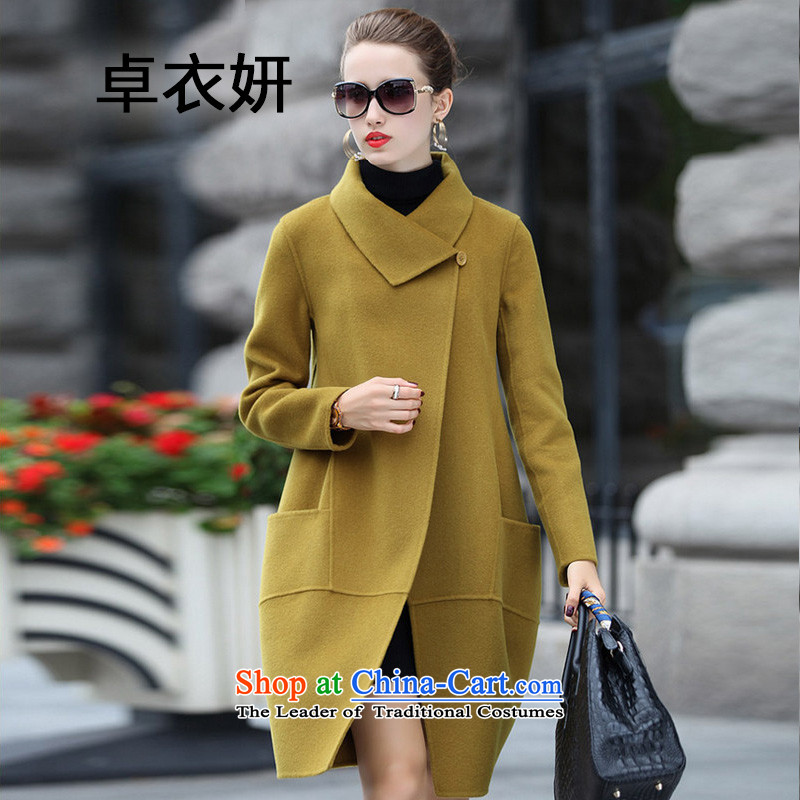 New Korea autumn 1442#2015 version stylish long wool so Sau San jacket female General HuangXL