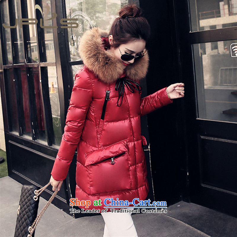 To intensify the code 5X down in long campaign for gross sub-thick warm wind thick MM Winter Female relaxd casual stylish with Cap 200 catties red jacket�L recommendations 160-180 catty