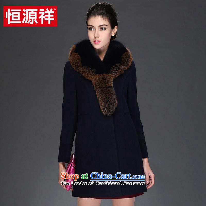 Hengyuan Cheung 2015 autumn and winter coats, wool a medium to long term gross?   for the works on the Nagymaros Case燦o. 2�5_XXL navy blue