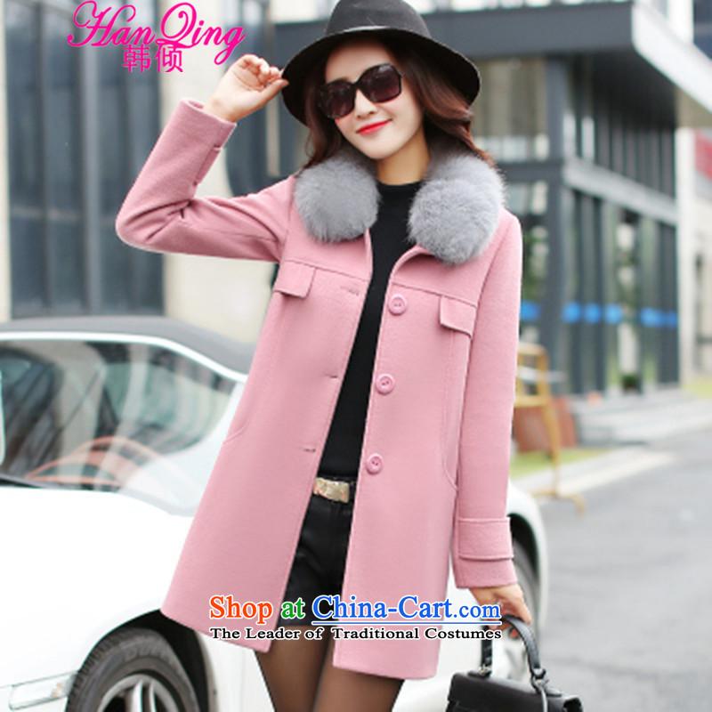 _hanqing dumping_ won 2015 winter new Korean women for Sau San over the medium to longer term nagymaros gross jacket coat 8851? pinkL