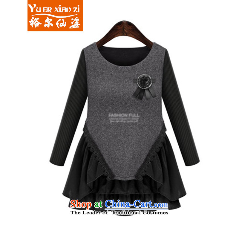 Yu's sin for燼utumn 2015 mm thick add fertilizer xl women in long stitching petticoats video thin long-sleeved shirt, forming the autumn and winter dresses female5228 picture color�L�5-200 recommends that you Jin