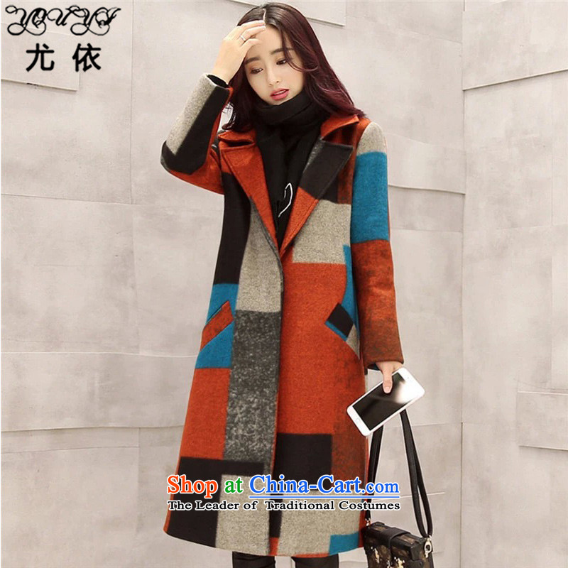 In accordance with the2015 autumn and winter is particularly new Korean version of color grid gross coats and women code?   CARDIGAN Y68 Jacket ColorL