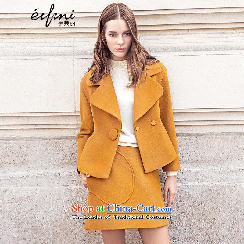 El Boothroyd 2015 winter clothing new a grain shortage of detained lapel coats female 6581017119 gross? caramelL