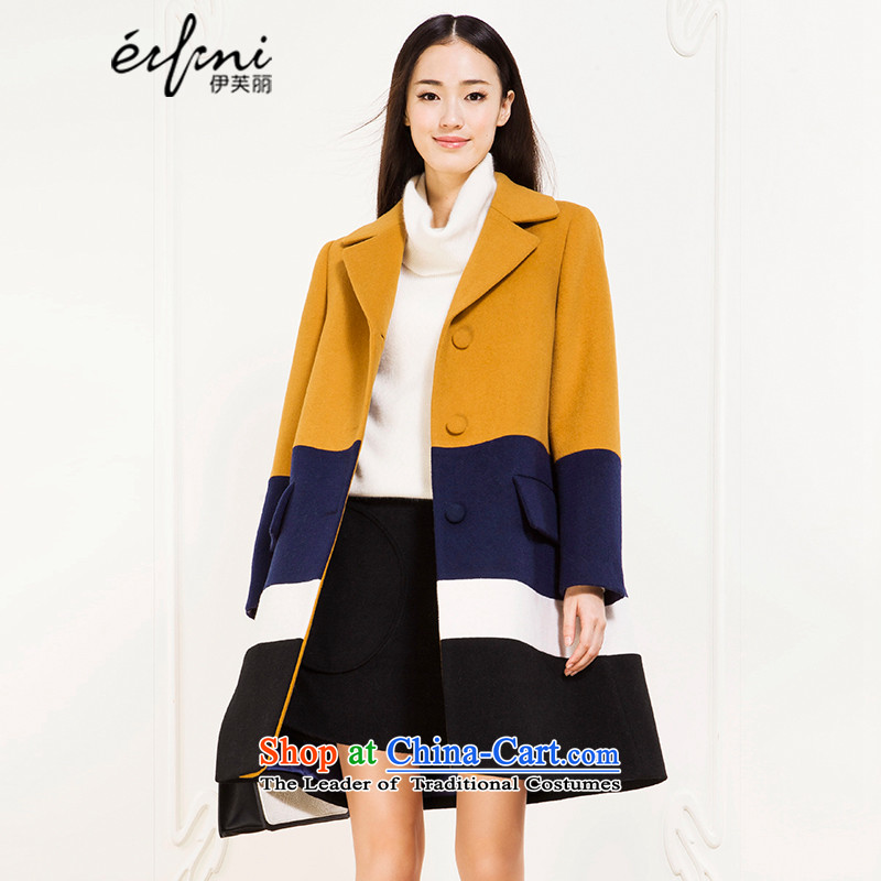 El Boothroyd 2015 winter clothing new Korean lapel jacket in long coats female 6581017772 caramel聽S