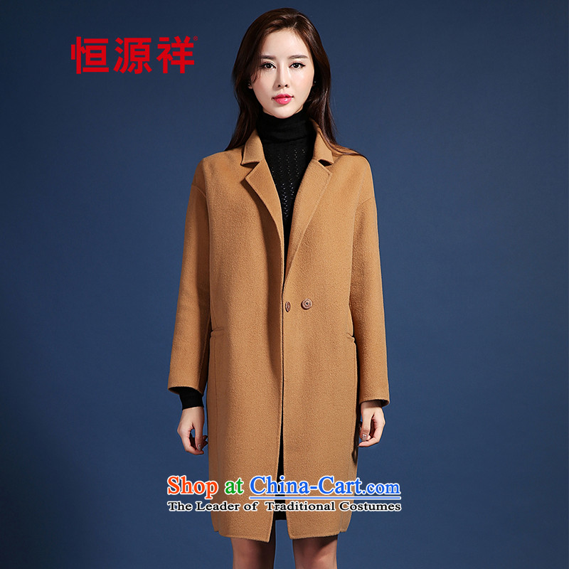 Hang Cheung Pure Wool gross source?�15 autumn and winter coats female Korean version of the new long-manual two-sided coats and color�0_84A_M?